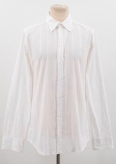 Dolce & Gabbana White Stripped Shirt
