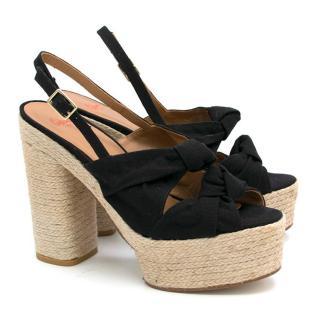 Castaner Black Heel Wedges