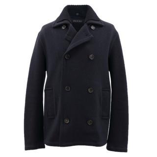 Gucci Navy Wool Coat
