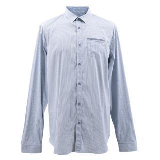 Burberry Blue Striped Shirt