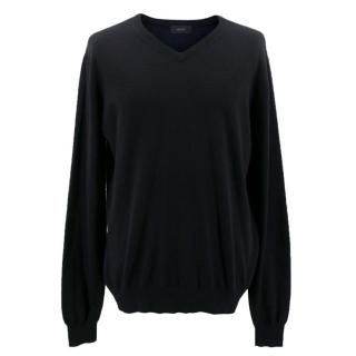 Jospeh Black and Navy V-neck Jumper