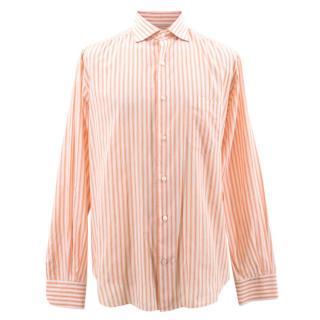 Loro Piana Orange Striped Shirt