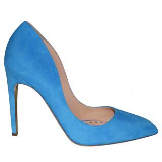 Rupert Sanderson Elba Azure/Blue Suede  Pumps