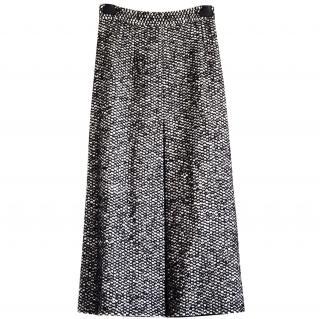Dolce & Gabbana black and white tweed skirt