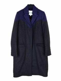 Kenzo blue/navy virgin wool and cashmere coat