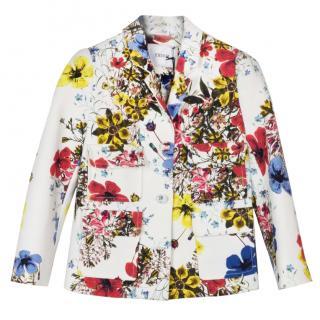 Erdem floral multicolour cropped blazer