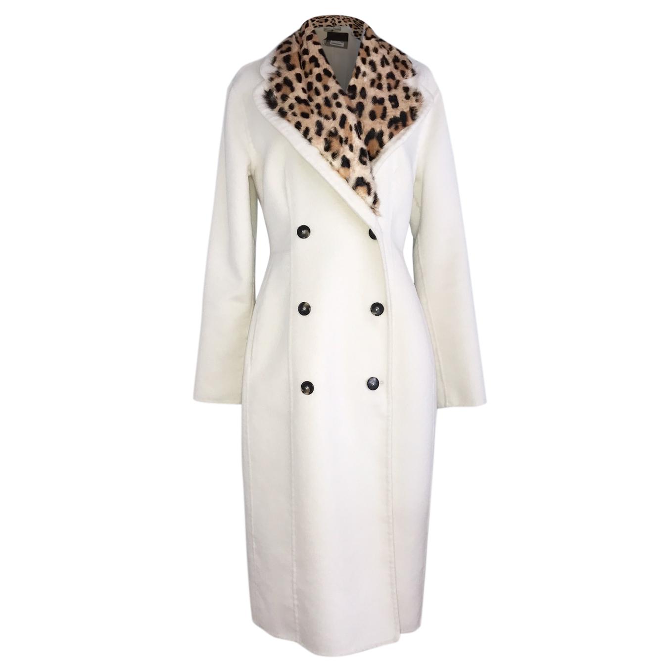 best loved 3b231 5f131 Ermanno Scervino cream/leopard coat