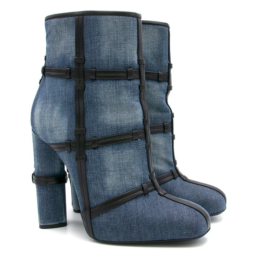 Tom Ford Denim 'Patchwork' Ankle Boots