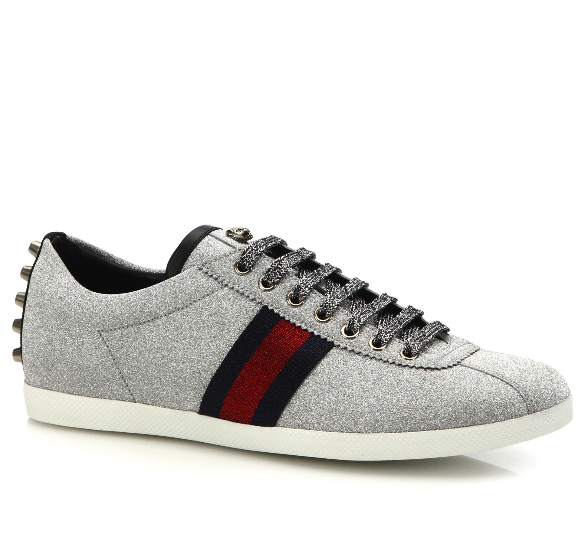Gucci Silver Sparkle Sneaker Trainers