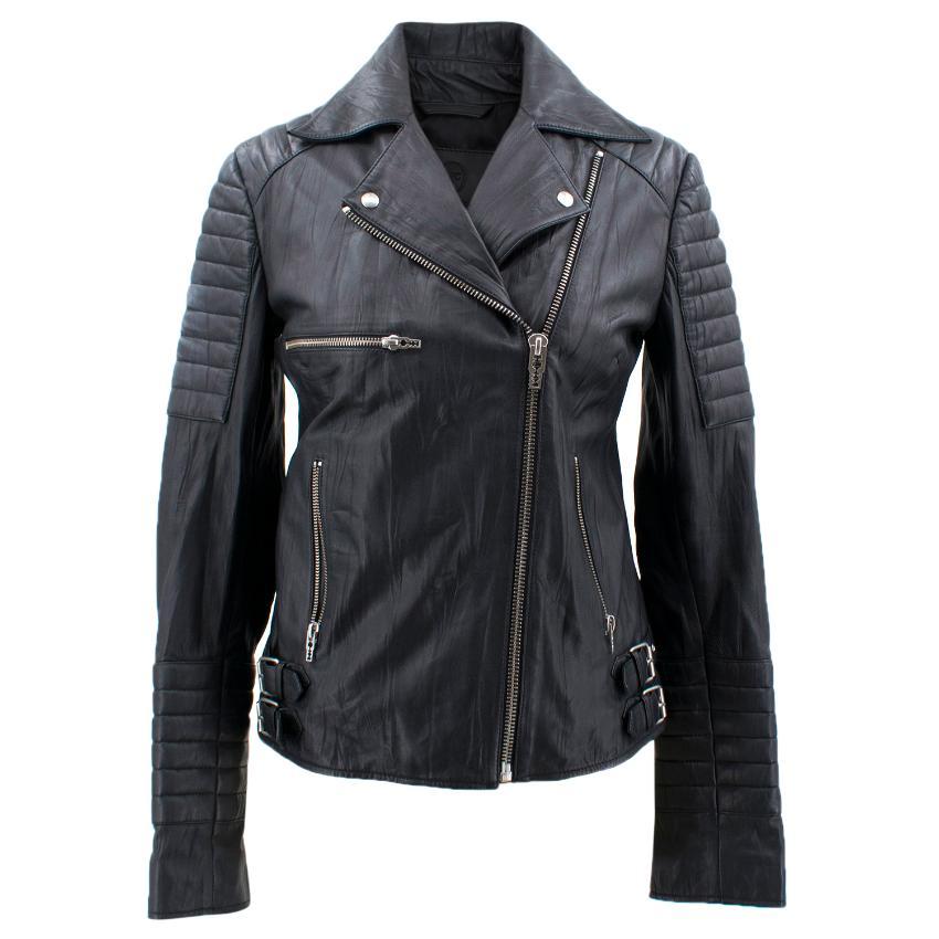 Mcq Alexander Mcqueen Black Leather Biker Jacket   HEWI London 5c730c65bfc