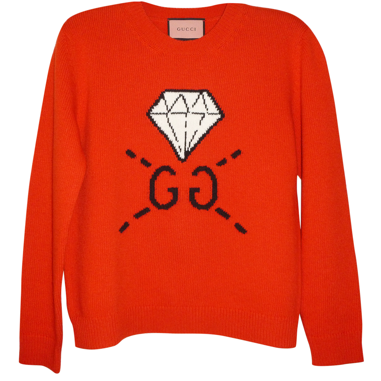 9018250fcc3 Gucci Diamond And G Logo Sweater