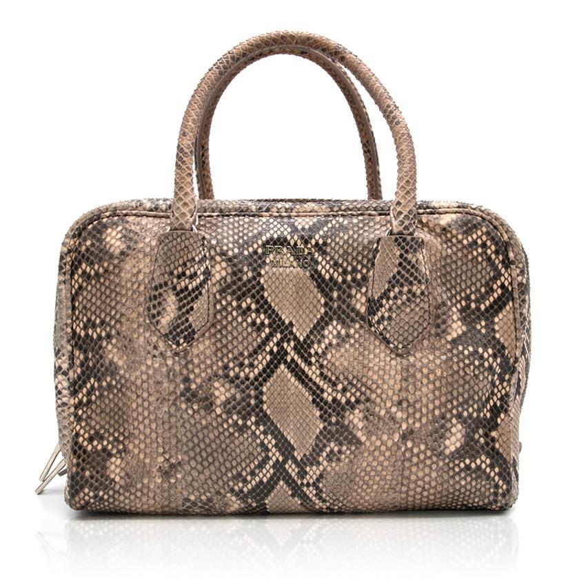 22c47f34e8c5 Prada Python Bauletto Bag   HEWI London