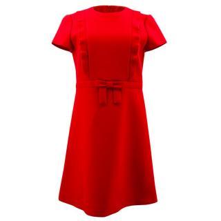 Red Valentino Red Frill Dress