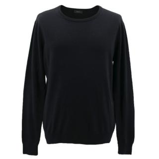 Joseph Black Wool Crewneck Jumper