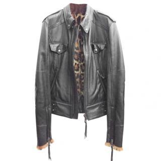 D&G DOLCE&GABBANA Leather Jacket