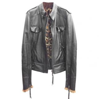 D&G DOLCE&GABBANA Leather Jacket