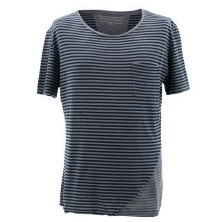 Balenciaga Grey Striped Top