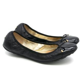 Jimmy Choo Black Ballerina Flats