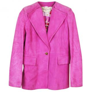 Emilio Pucci suede/soft lambskin pink jacket