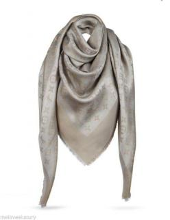 Louis Vuitton Beige and Gold Shine Shawl Scarf