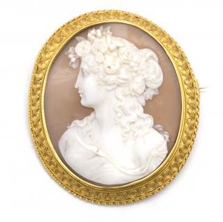 Florence Nightingale cameo circa 1860 gold