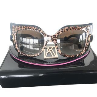 Anna-Karin Karlsson Leopard Cat Eye Sunglasses