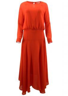 Maje Long Red Dress