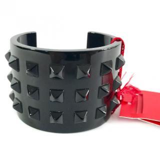 Valentino Black Resin Rockstud Bracelet