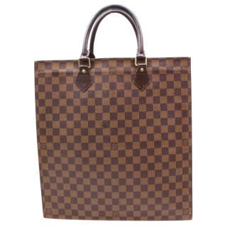 Louis Vuitton Sac Plat 10614 Brown Damier Hand Bag