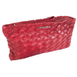 Miu Miu Red Clutch