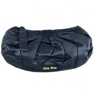 Miu Miu Navy Silk Puff Clutch