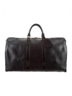 Louis Vuitton Keepall leather travel bag