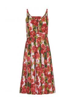 Emilia Wickstead 'Juliet' Floral and Stripe Print Dress
