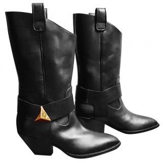 Giuseppe Zanotti Black Western Boots