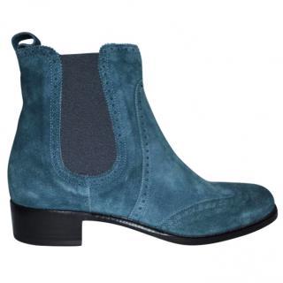 Rupert Sanderson Suede Saymara Chelsea Ankle Boots