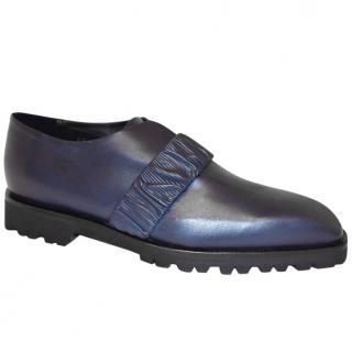 Rupert Sanderson Dark Blue Leather Stanford Loafers