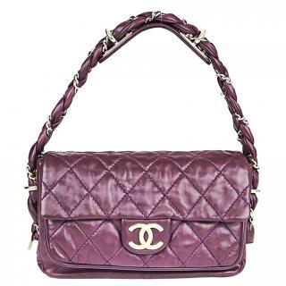 Chanel Purple Lady Braid Flap Bag