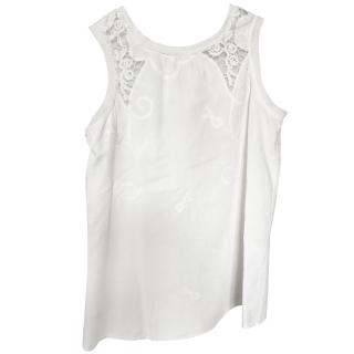 Maje White Floral Top