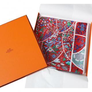 Hermes silk Fleurs de Giverny scarf