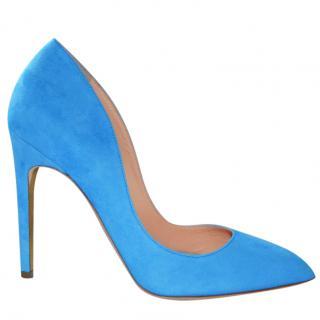 Rupert Sanderson Elba Azure/Blue Suede Hight Heel Pumps UK5.5/EU38.5