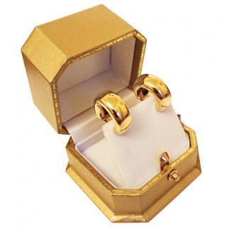 Kiki Mcdonough 18ct gold hoop earrings