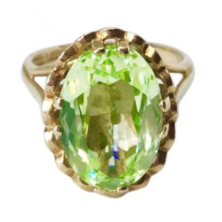 9ct Gold Green Stone Ring