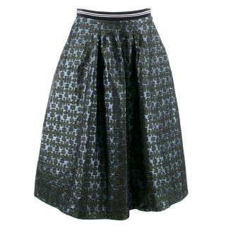 Markus Lupfer Green and Blue Pattern Skirt