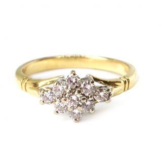 18ct Gold Diamond 0.29ct approx. Cluster Ring