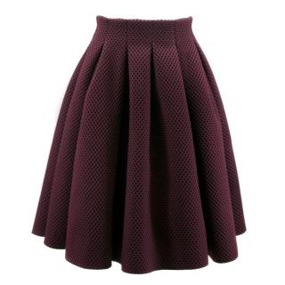 Maje Purple Pattern Skater Skirt