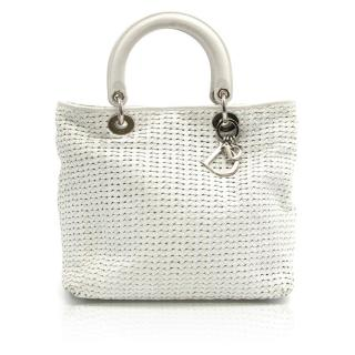 Dior White Leather Bag