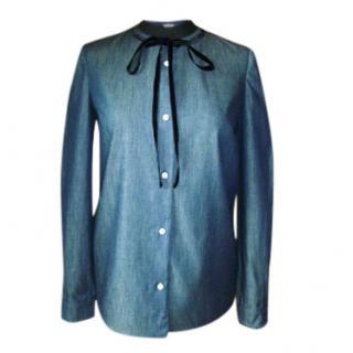 Miu Miu Denim and Silk Shirt