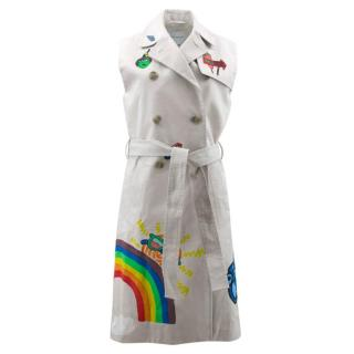 Mira Mikati Embellished Sleeveless Trench Coat