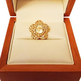 Adler citrine and yellow Sapphire pendant 18ct gold