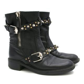 Gucci Studded Biker Boots